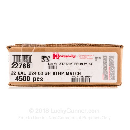 Large image of Cheap 223 Rem Bullets For Sale - 68 Grain HPBT Bullets in Stock by Hornady - 4500