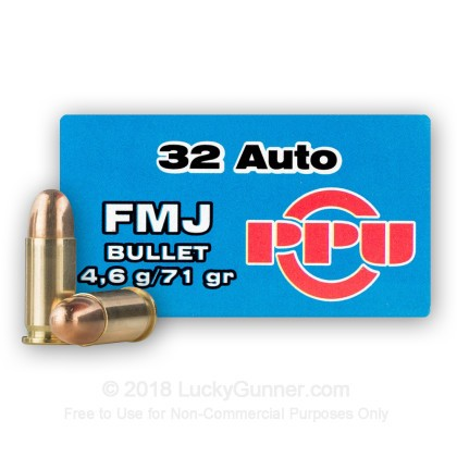 Large image of 32 ACP Ammo For Sale - 71 gr FMJ Prvi Partizan Ammo Online