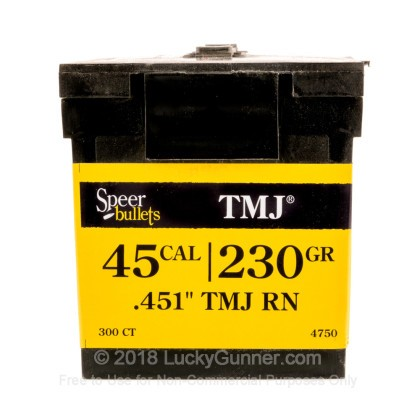 Large image of Bulk 45 ACP (.451) Bullets for Sale - 230 Grain TMJ Bullets in Stock by Speer - 300