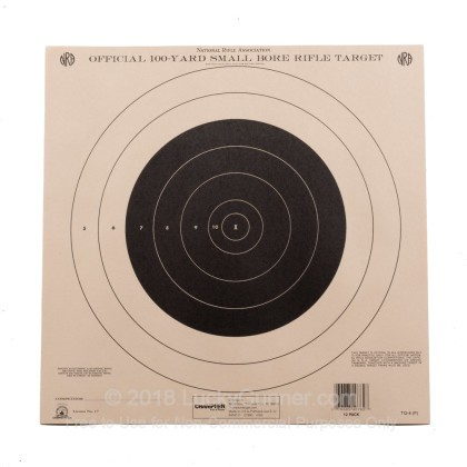 Large image of Champion Targets For Sale - 100 Yard NRA Small Bore Rifle Targets - 12 Pack
