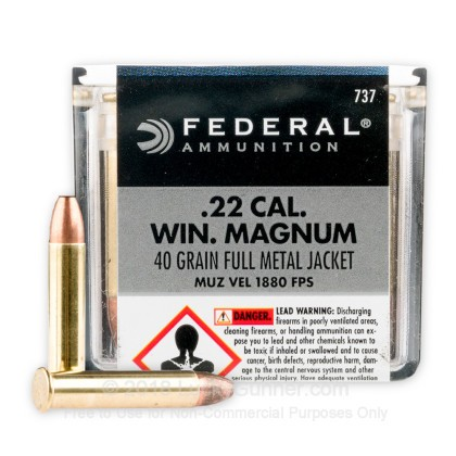 22 wmr ammo for sale 40 gr fmj federal 22 magnum rimfire