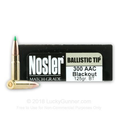 Image 1 of Nosler Ammunition .300 Blackout Ammo