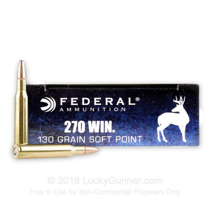 Large image of 270 Ammo For Sale - 130 gr SP - Federal Power-Shok Ammo Online