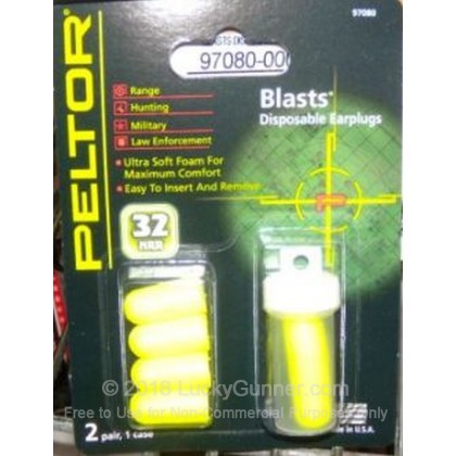 Large image of Peltor Blasts Disposable Ear Plugs For Sale - 33 NRR - Peltor Hearing Protection in Stock
