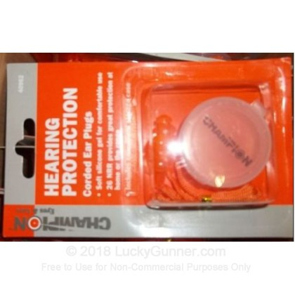 Large image of Champion Corded Ear Plugs For Sale - 26 NRR - Champion Hearing Protection in Stock