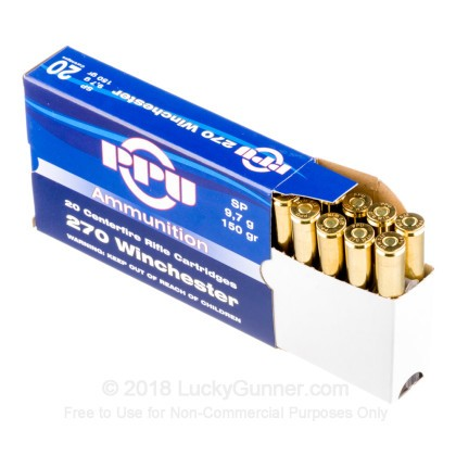 Large image of Bulk 270 Ammo For Sale - 150 Grain SP Ammunition in Stock by Prvi Partizan - 200 Rounds