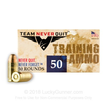 Image 2 of Team Never Quit .380 Auto (ACP) Ammo
