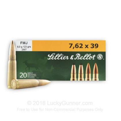 Image 2 of Sellier & Bellot 7.62X39 Ammo