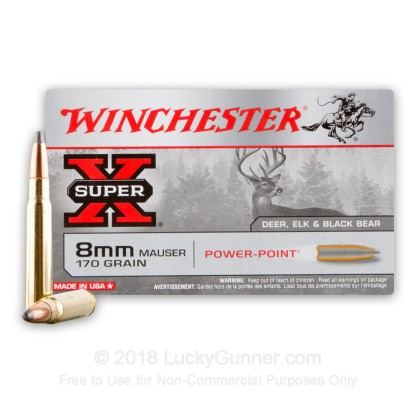 Image 2 of Winchester 8mm Mauser (8x57mm JS) Ammo