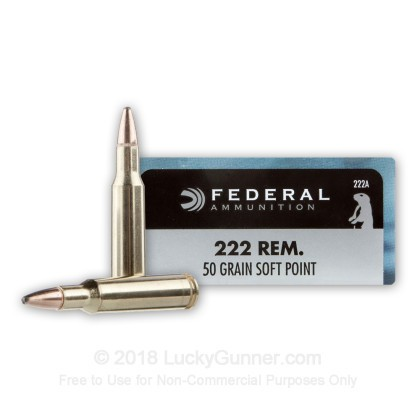 Image 1 of Federal .222 Remington Ammo
