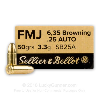 Image 1 of Sellier & Bellot .25 Auto (ACP) Ammo