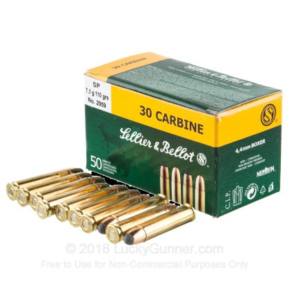 Image 3 of Sellier & Bellot 30 Carbine Ammo