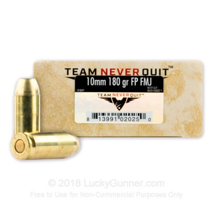 Image 1 of Team Never Quit 10mm Auto Ammo