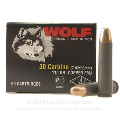 Image 1 of Wolf 30 Carbine Ammo