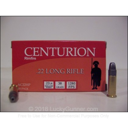 Image 1 of Centurion .22 Long Rifle (LR) Ammo