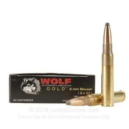 Image 1 of Wolf 8mm Mauser (8x57mm JS) Ammo