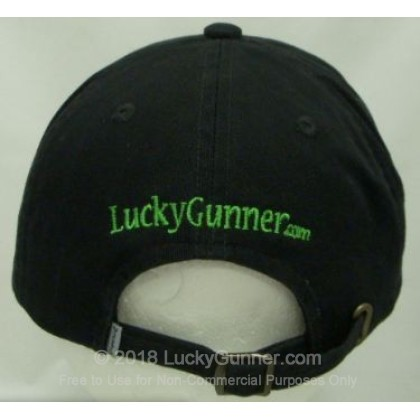Large image of Black LuckyGunner Hat with Clover Embroidered Logo