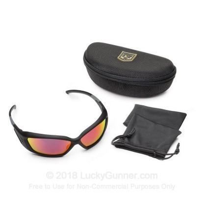 Large image of Revision Hellfly Ballistic Glasses -  Hellfly Ballistic Eyewear with Black Frame and Flame Mirror Lenses For Sale