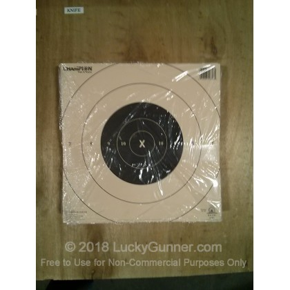 Large image of Champion Targets For Sale - 25 Yard NRA Timed and Rapid Fire Pistol Targets - 12 Pack