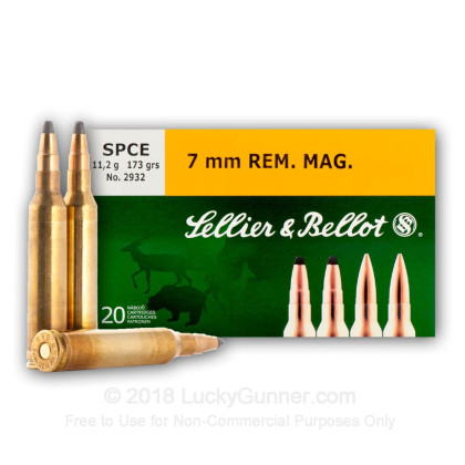 Image 1 of Sellier & Bellot 7mm Remington Magnum Ammo
