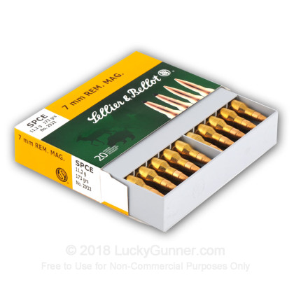 Image 3 of Sellier & Bellot 7mm Remington Magnum Ammo