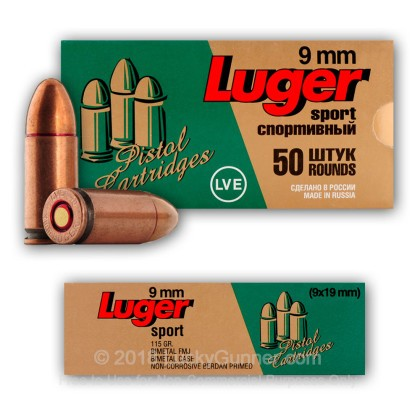 Image 3 of LVE 9mm Luger (9x19) Ammo