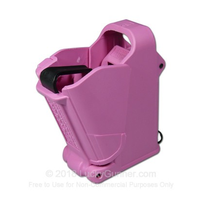 Large image of MagLULA Pink Universal Pistol Magazine Loader For 9mm through 45 acp handgun magazines For Sale