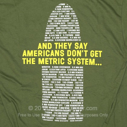 Large image of Lucky Gunner T-Shirt - Metric System