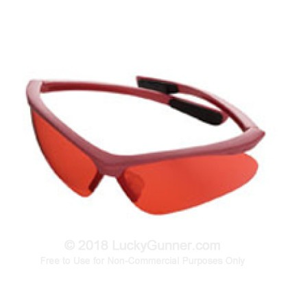 Large image of Champion Rose Colored Shooting Glasses with Pink Rims For Sale - 40605 - Champion Glasses in Stock