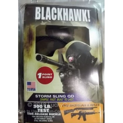 Large image of Blackhawk Storm Single Point Sling QD For Sale - Blackhawk Universal Single Point Sling for AR-15's and M4 Styled Rifles and Tactical Shotguns