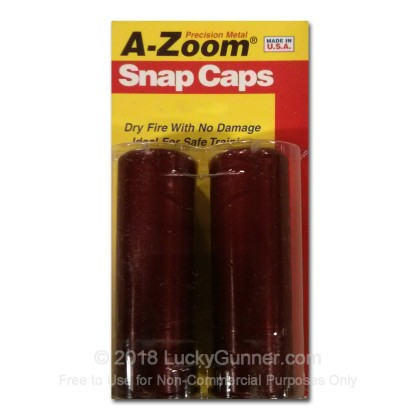 Large image of Snap Caps - A-Zoom Pachmayr Aluminum Dummy Rounds In Shotgun Calibers - 2 Pack