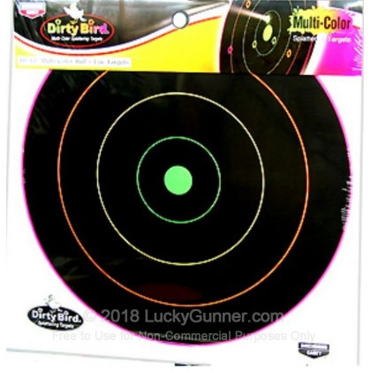 "Large image of Dirty Bird Multi-Color Targets For Sale - Dirty Bird Target Kit - Birchwood Casey 12"" Targets For Sale"