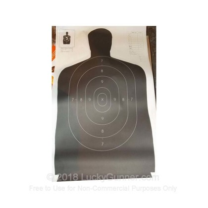 Large image of Champion Paper Silhouette LE Targets For Sale - Black B27 Targets In Stock
