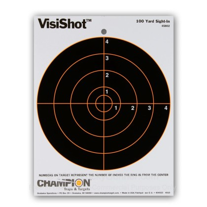 "Large image of Champion VISISHOT 8"" Bull's Eye Targets For Sale - Reactive Indicator Targets In Stock"
