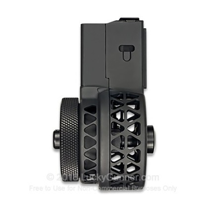 Large image of X-Products AR-15 50rd - 223 / 5.56 - Black - High Capacity Skeletonized Drum Magazine For Sale