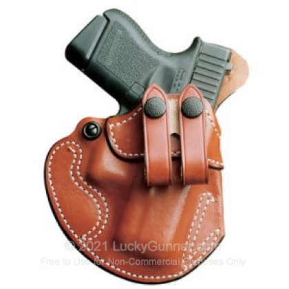 Large image of DeSantis Cozy Partner Left Hand IWB Holster - Glock 26/27 - Tan