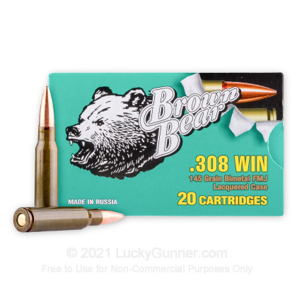 Image 1 of Brown Bear .308 (7.62X51) Ammo