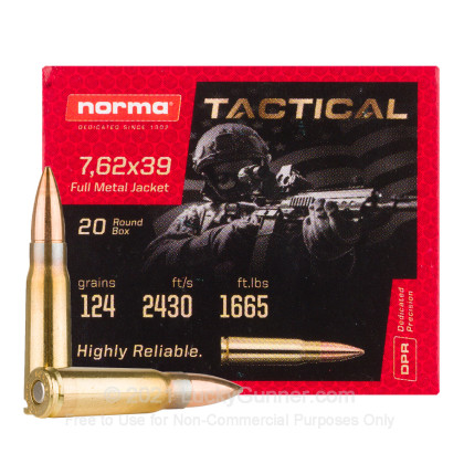Image 1 of Norma 7.62X39 Ammo