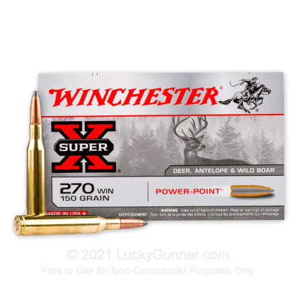 Large image of 270 Ammo For Sale - 150 gr PP - Winchester Super-X Ammo Online