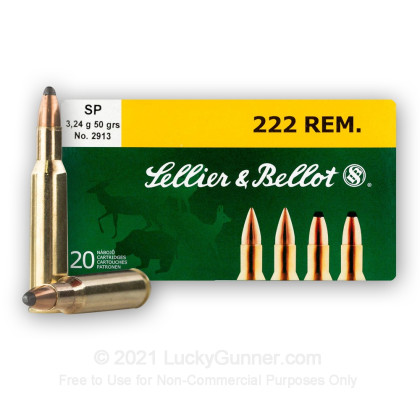 Image 1 of Sellier & Bellot .222 Remington Ammo