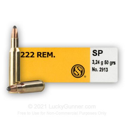 Image 2 of Sellier & Bellot .222 Remington Ammo