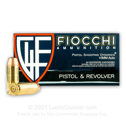Large image of Bulk 10mm Auto Ammo For Sale - 180 Grain FMJTC Ammunition in Stock by Fiocchi - 500 Rounds