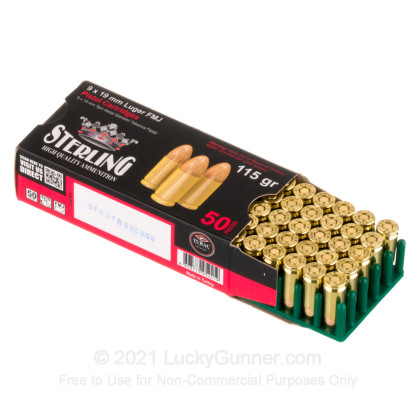 Image 3 of Sterling 9mm Luger (9x19) Ammo
