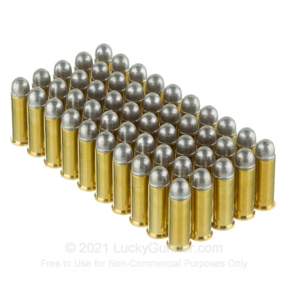 Large image of Premium 38 Long Colt Ammo For Sale - 158 Grain LRN Ammunition in Stock by Black Hills - 50 Rounds