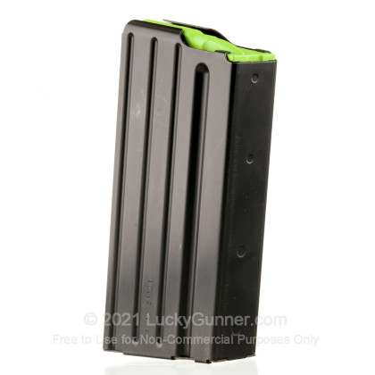 Large image of Premium 308 Magazine For Sale - Black Steel SR-25 Magazine in Stock by D&H Industries - 20 Round Capacity