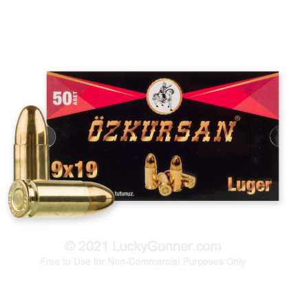 Image 1 of Ozkursan 9mm Luger (9x19) Ammo