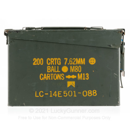 Large image of Surplus Mil Spec Ammo Can 30 Cal M19 Green Used For Sale