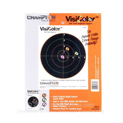 """Large image of Champion VisiColor 8"""" Bull's Eye Targets For Sale - Reactive Indicator Targets In Stock"""