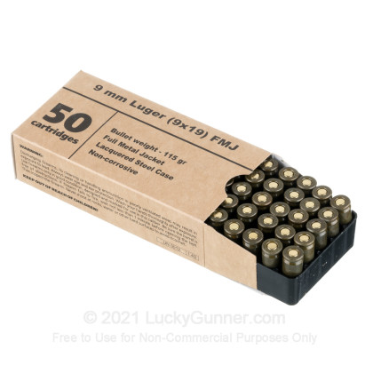 Image 2 of Barnaul 9mm Luger (9x19) Ammo