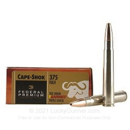 Image 1 of Federal .375 H&H Magnum Ammo
